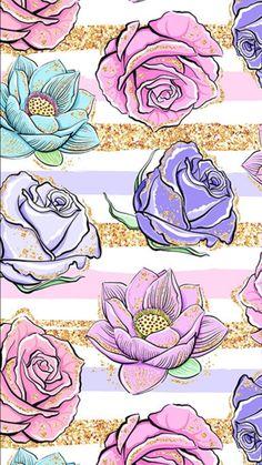 Flowery Wallpaper, Flower Phone Wallpaper, Phone Screen Wallpaper, Summer Wallpaper, Wallpaper Iphone Disney, Cute Wallpaper Backgrounds, Pretty Wallpapers, Mobile Wallpaper, Pattern Wallpaper