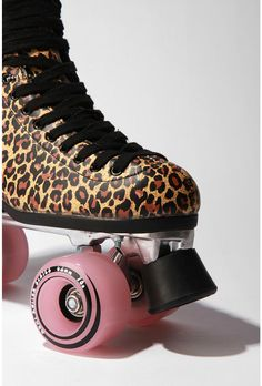 leopard roller skates! So cute I might die!
