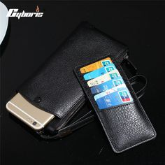 CYBORIS Genuine Leather Case for iphone 7 / 7 plus Wallet Real Leather Cover Purse for iphone 6 /6s /6 plus/ 5/ 5s/ 4s Pouch