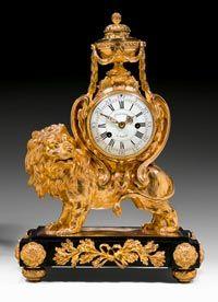 """Important clock """"Au Lion"""". Louis XVI movement and dial signed Leroy A Paris, Ca1780 France."""