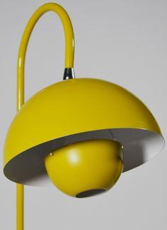 Lampadaire 'Pot de Fleurs' - Jaune - Verner Panton - Design de 1970