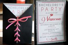 Wedding Ideas - Bachelorette : Planning a bachelorette party or deciding what you want to do for yours? We put together a list of our top 5 favorite bachelorette party ideas! Bachelorette Invitations, Bachelorette Party Invitations, Bachelorette Ideas, Invites, Corset Invitations, Baby Shower, Shower Party, Lingerie Shower, Lingerie Party