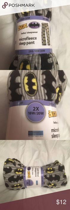 2X 18-20 Batgirl Pajama Bottoms  25% off 2 items. My gray fleece pajama bottoms size 2X with the batgirl pattern on them new with tags all wrapped up for you Intimates & Sleepwear Pajamas