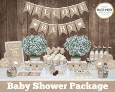 Save OVER 50% with the Baby Shower Mega Set! This adorable printable Rustic Neutral Baby Shower MEGA SET has Everything you need to throw a perfect baby shower that will be sure to impress your guests. ►All files will be emailed to your ETSY email address within 24-48 hours. No