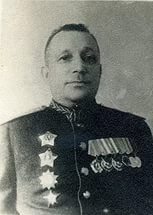Krutikov Alexey Nikolaevich (1895 - 1949), Soviet military commander, a participant of the WWII. The Staff`s Chief of the 7th Army (1940-1943), the commander of the 7th Army (1943 - 1944), the Staff`s Chief of the Karelian Front (Sep. - Nov. 1944), the Staff`s Chief of the 1st Far Eastern Front (Aug. - Oct. 1945, the Soviet-Japanese War).