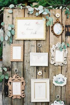Sandra and Michael, wedding in the Viennese vineyards by Lovely Weddings and peaches & mint ✰ wedding guide ✰ - SITZPLAN HOCHZEIT - Austrian vineyard wedding, rustic wood photo backdrop with framed photos – design by Lovely Weddi - Seating Arrangement Wedding, Seating Plan Wedding, Wedding Table Plans, Wedding Seating Charts, Wedding Seating Display, Wedding Arrangements, Rustic Seating Charts, Table Seating, Seating Plans