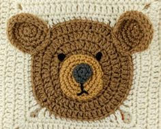 Teddy Bear Square FREE Crochet Pattern