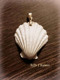 Bleached Look Polymer Clay Seashell Pendant by TNTPatterns on Etsy