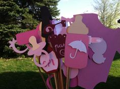 Photo booth props glam baby shower por flutterbugfrenzy en Etsy, $32,75