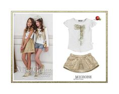 Shop at www.kidsandchic.com this #girls #outfit from #Microbe by #MissGrant and #Boboli with -30% discount! #sale #summersale #kidsfashion #discount #shopping #niña #kidsandchic #kidsandchiccom #castelldefels #barcelona 