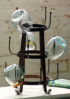 Remember the Coffee Mug tree, updated here: glass dryer \ cup rack  $59.00