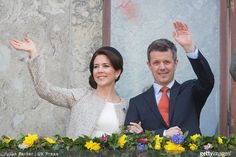 Prince Henrik, and Queen Margrethe II of Denmark, Crown Princess Mary and Crown Prince Frederik of Denmark, Princess Marie and Prince Joachim of Denmark attend a lunch reception to mark the forthcoming 75th Birthday of Queen Margrethe II of Denmark. at Aarhus City Hall. on April 8, 2015 in Aarhus, Denmark.