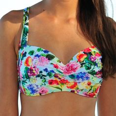 Seafolly Summer Garden Mint DD/E Cup Halter Bra Dream bikini top