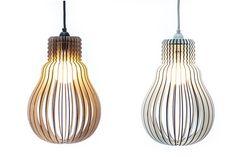 Lampenschirme - Rippenlampe Hellene - ein Designerstück von westpakete bei DaWanda