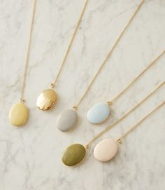 Fresh colors just arrived for our favorite locket. We love the butter yellow! How about you?