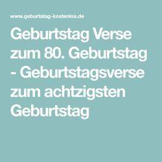 Geburtstag Verse zum 80. Geburtstag - Geburtstagsverse zum achtzigsten Geburtstag Birthday, Letterpress Printing, Birthdays, Dirt Bike Birthday, Birth Day
