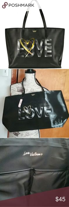 VICTORIA'S SECRET  3D LOVE Tote New VICTORIA'S SECRET 3D LOVE Tote! Please take a look at my closet to bundle and save! Offers welcome!! Victoria's Secret Bags Totes