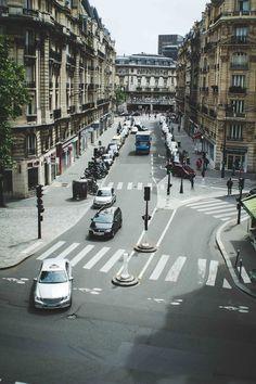 buzzing city streets