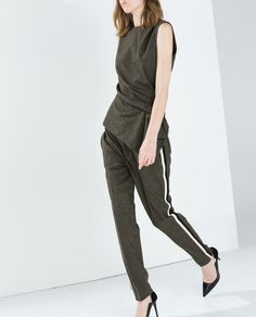 Image 2 of DRAWSTRING TROUSERS WITH SIDE STRIPES from Zara