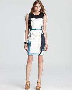 Love this Elie Tahari dress with a modern  print