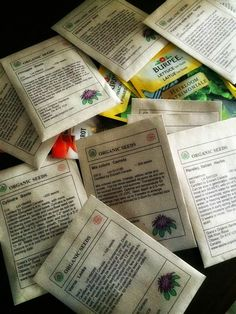 Building A Frog: Organization = Happiness: Upcycled Seed Catalogue