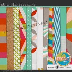 love patterned papers~
