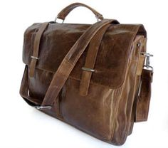 Mercutio/Capulet Real Vintage Leather Men Laptop Bag Briefcase Messenger