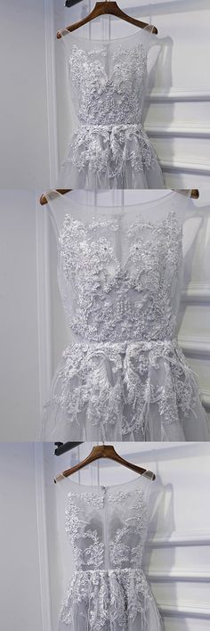 Only $109, Homecoming Dresses Short Grey Lace Homecoming Party Dress For Teens #MYX18251 at #GemGrace. View more special Bridal Party Dresses,Prom Dresses,Homecoming Dresses,Short Wedding Dresses,Wedding Reception Dresses now? GemGrace is a solution for those who want to buy delicate gowns with affordable prices, a solution for those who have unique ideas about their gowns. 2018 new arrivals, shop now to get $10 off!
