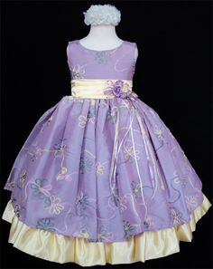Lavender Flower Girl Dresses | ... > special occasion girls dresses > Elegant lilac flower girls dress