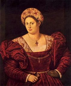 Italian noblewoman - I find it amusing when I see portraits of big Mamas wearing huge bulky dresses - you know they were matriarchs and they remind me of my great-grandma.  by Bernardino Licinio c. 1533 Portraits of  Women in Italian Renaissance Painting