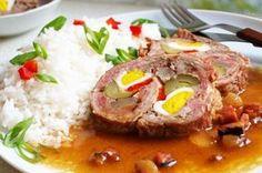 Beskydský závitek s rýži No Salt Recipes, Pork Recipes, Cooking Recipes, Slovakian Food, Pork Meat, Czech Recipes, Pork Tenderloin Recipes, Food 52, Main Meals