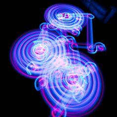 Light painting using LEDs and long exposure shots Light Painting, Light Trails, Glitch Art, Photo Lighting, Art Party, Light Installation, Beautiful Lights, Light Art, Light Photography