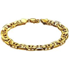 Prime Leader Fashion Jewelry Fashion 18K Gold Plated Cool Powerful Women'S Bracelets High Quality New Design Gp Number 8 Shaped Chain Link Wristband Classic Bride Gift Never Fade And Anti-Allergy 8.86 Inch Length 9.5Mm Width * Awesome product. Click the image : Gift for Guys