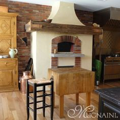 love the mantle Indoor Wood Fired Ovens – Mugnaini Residential Photo Gallery