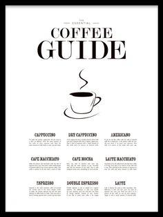 Coffee guide - snygg tavla till köket (EJ JULKLAPP)