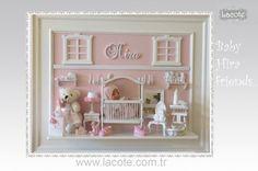 Baby-Kindergarten Wandbehänge Dekor mit Miniatur von Lacote auf DaWanda.com