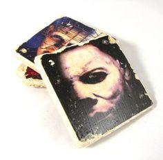 Horror Movie Villain Coaster Set of Four on Etsy, $22.00