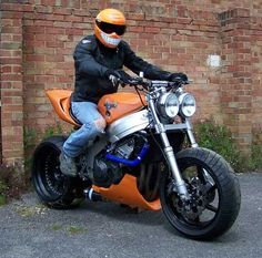 1996 Honda CBR900RR Streetfighter, 'Roadkill' the fat orange beastie :-)