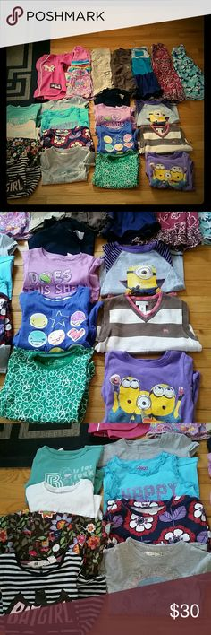 Lot 24 pieces of great condition clothes This lot of clothes is size 4/5 T in great shape. Lot includes 3 skirts, 2 pair of pants, 3 dresses, 1 Yankee jersey, and 15 shirts. Some brands include old navy, circo, baby gap. baby gap Other