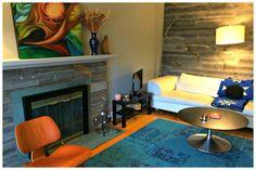 Living Room design with feature wall by Sara Eizen www.saraeizen.com