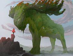 ArtStation - Woodland Giant, Tomasz Kwiatkowski