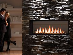 Chic linear fireplace ideas make an ordinary room look extraordinary. The modern, linear look is designed to add elegance and sophistication House, Home Remodeling, House Interior, Indoor Fireplace, Linear Fireplace, Restaurant Fireplace, Modern Restaurant, Fireplace Decor, Fireplace Makeover