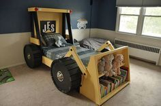 Construction Truck Bed Plans - great for a toddler and a construction themed boys (or girls) room!