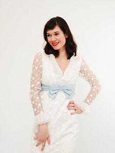 Vintage 1960s MOD Dress  60s Wedding Dress  by concettascloset, $68.00