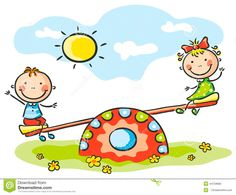 Kids At The Playground Stock Vector - Image: 44759685