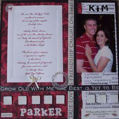 wedding scrapbook page layouts