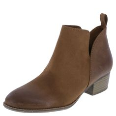 """Take things up a notch with the Max Ankle Boot from American Eagle. It features a faux suede upper, ankle pull tab for easy on/easy off, soft tricot lining, padded insole, 1 1/2"""" block heel, and a sturdy outsole. Manmade materials."""