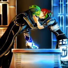 Mass Effect - Thane and FemShep - Broken Images by Altariah