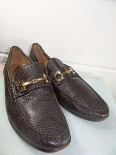 a2b5ef8412062c BALLY Brown Pebble Leather Loafer Shoe Men Size 9D Made in Switzerland   fashion  clothing  shoes  accessories  mensshoes  dressshoes (ebay link)