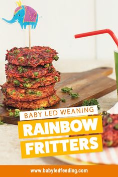 Rainbow Fritters, from The Baby Led Feeding Cookbook. The yummy little fritters are a great way to get baby to eat more vegetables. They are delicious, easy to make and are totally kid friendly too. Baby Food Vegetables, Toddler Finger Foods, Baby Food Recipes, Healthy Recipes, Healthy Baby Food, Baby Led Weaning, Weaning Toddler, Lactation Recipes, Homemade Baby Foods